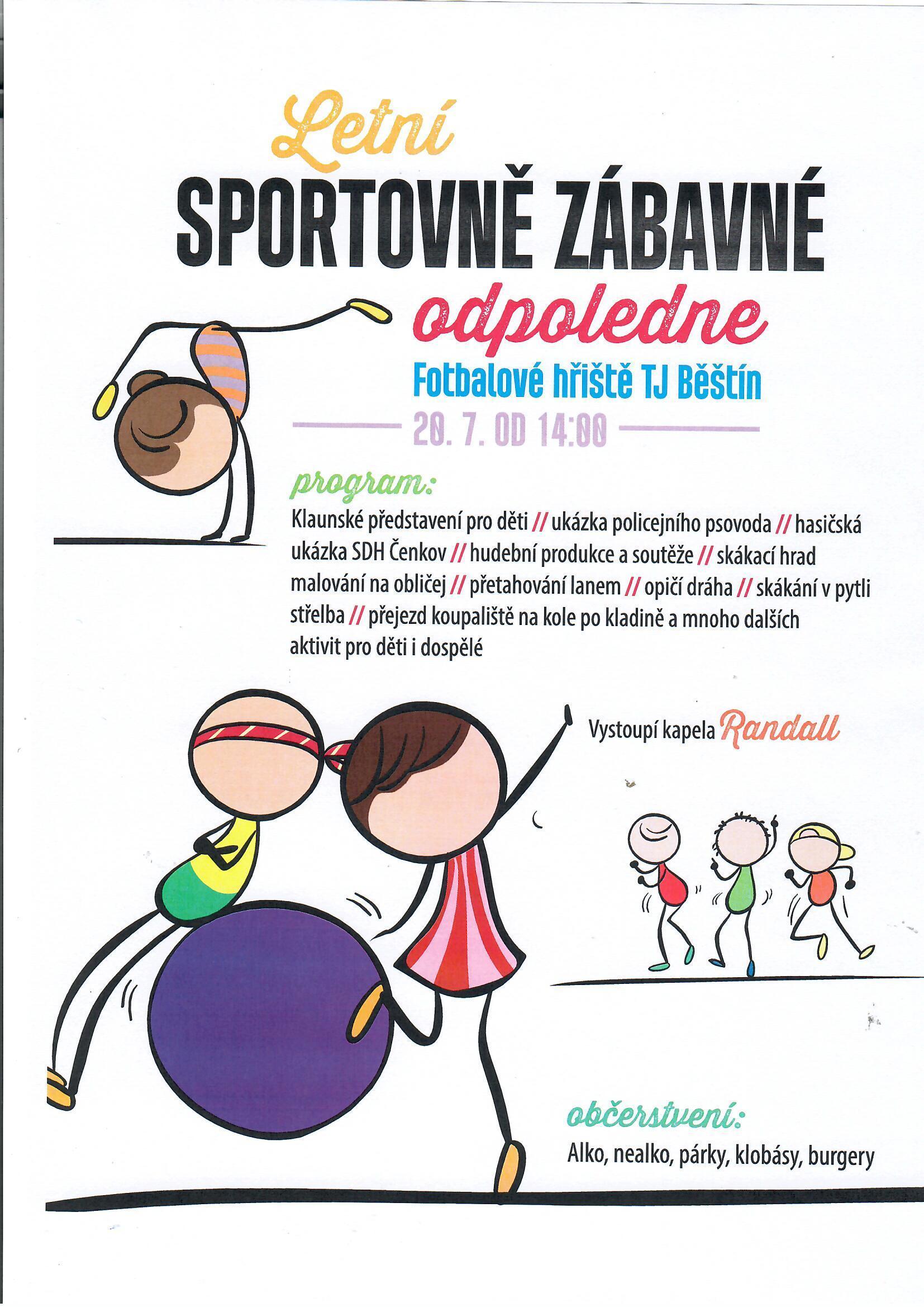 Sportovní odpoledne 20.7.2019