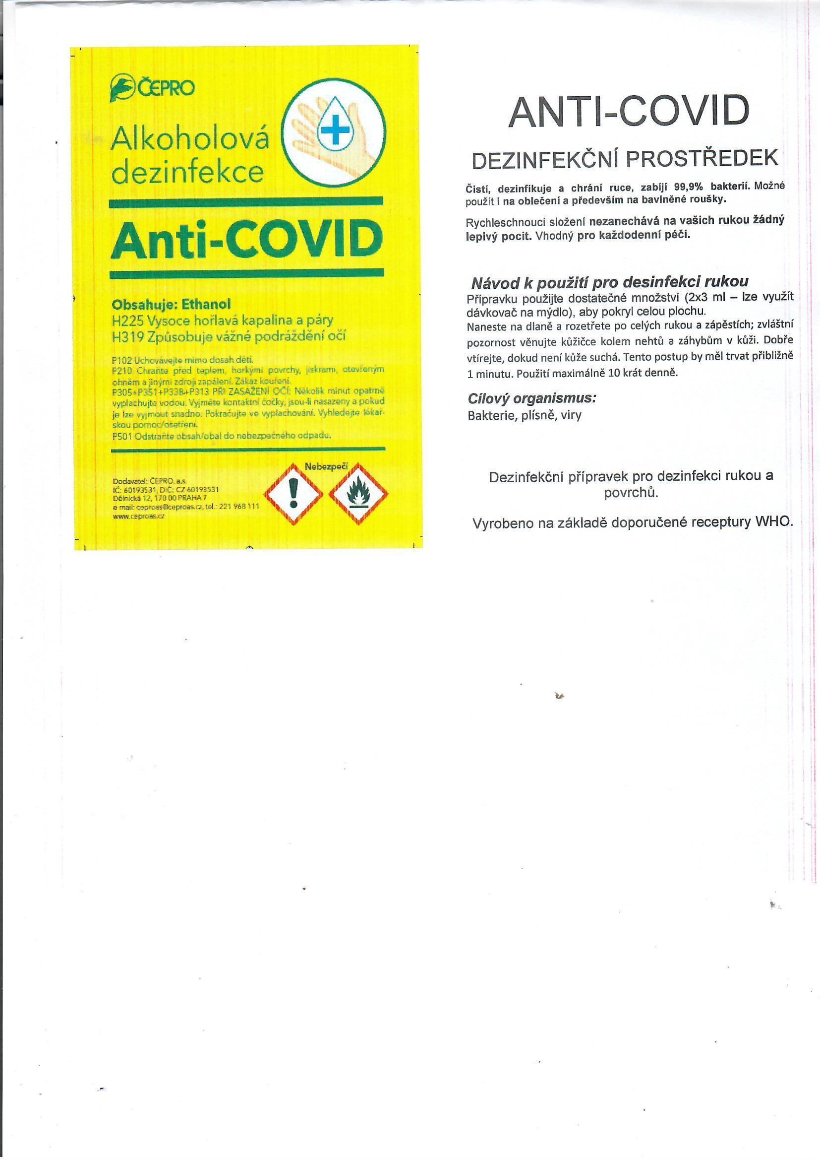 Distribuce desinfekce